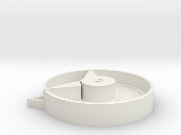 Pig ashtray in White Strong & Flexible: Medium