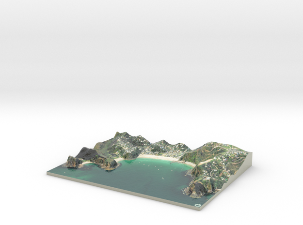 Mawhitipana Bay Map, Waiheke Island in Glossy Full Color Sandstone