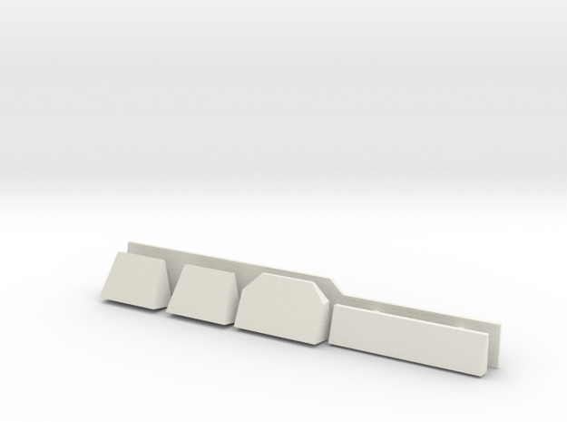 1/72 scale Burke Radar Shelves in White Natural Versatile Plastic