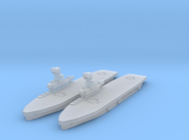 HMS Hermes in Smooth Fine Detail Plastic
