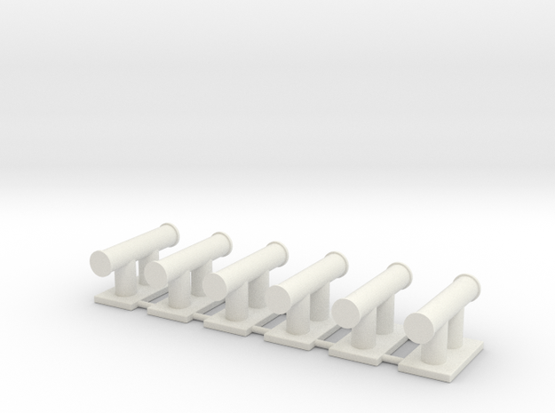 TEMPEST bollard aft (6pcs) in White Strong & Flexible