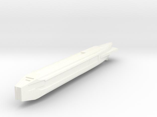 Fiwg-1 Fed Improved Warp Nacelle in White Processed Versatile Plastic
