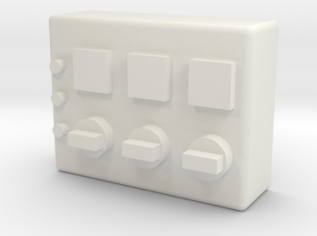 1/10 scale GROW ROOM CONTROL SWITCHES in White Natural Versatile Plastic: 1:10