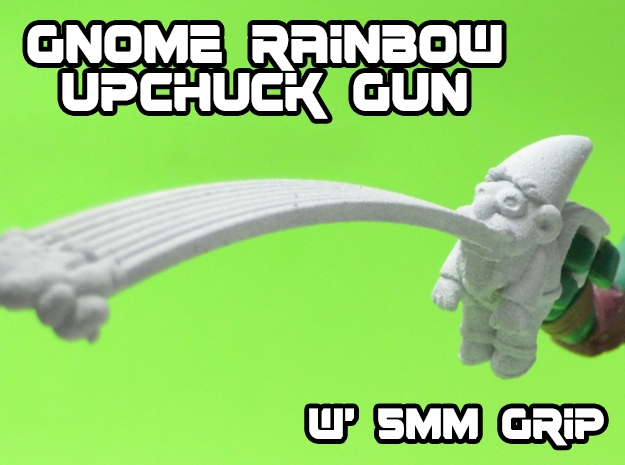 Gnome Rainbow Upchuck-Gun (5mm) in White Strong & Flexible