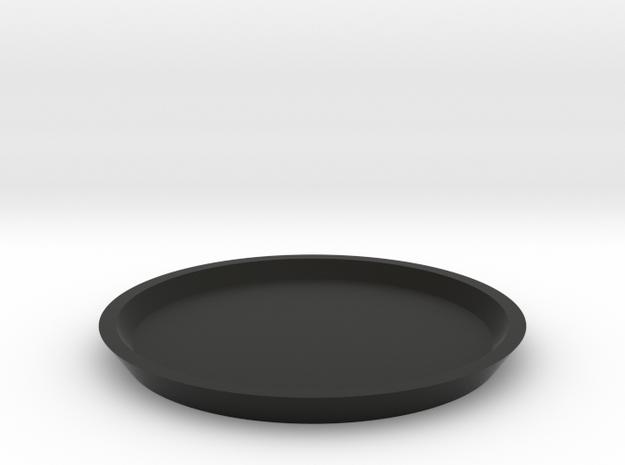 1/10 SCALE GROW ROOM FLOWERING POT BOTTOM in Black Natural Versatile Plastic: 1:10