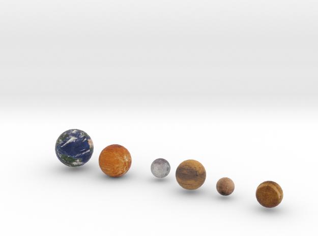 Mercury, Venus, Earth and Moon, Mars, Pluto