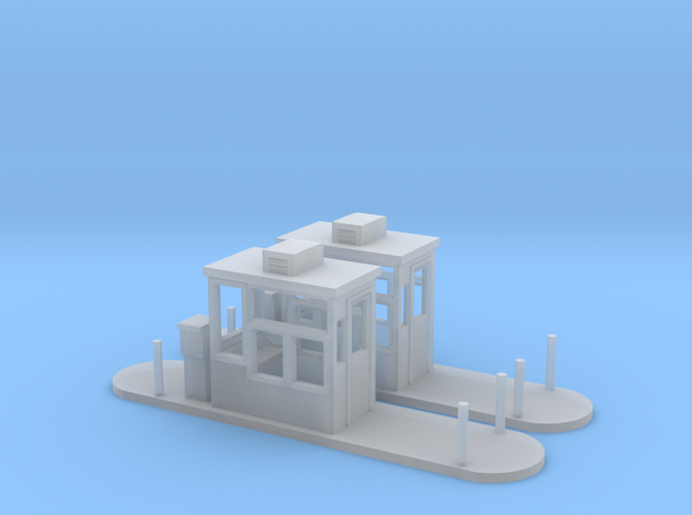 Toll Booths HO Scale in Smooth Fine Detail Plastic