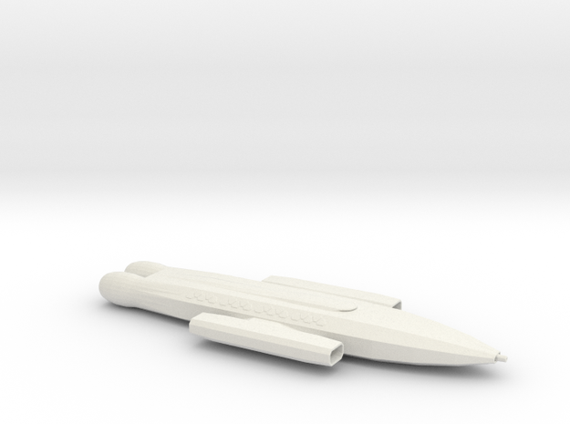 Prometheus-Class Escort Carrier in White Natural Versatile Plastic