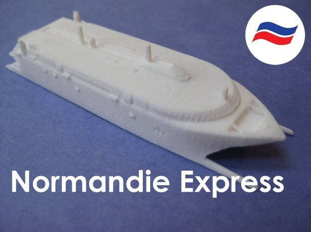 HSC Normandie Express (1:1200) in White Natural Versatile Plastic