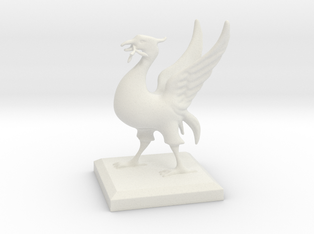 Liverbird 10cm in White Strong & Flexible