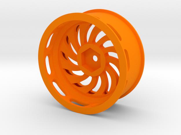 Steeringwheel 4px in Orange Processed Versatile Plastic