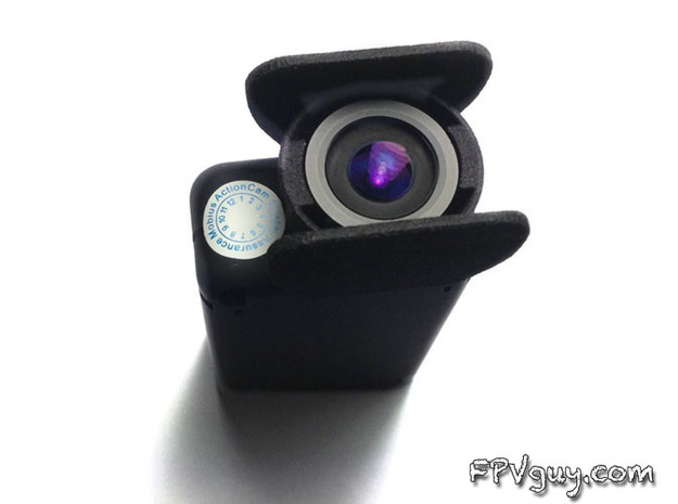Mobius Action Cam - LENS SAVER 3d printed The lens hood sides are very close to the image edge to give the most possible protection for the lens