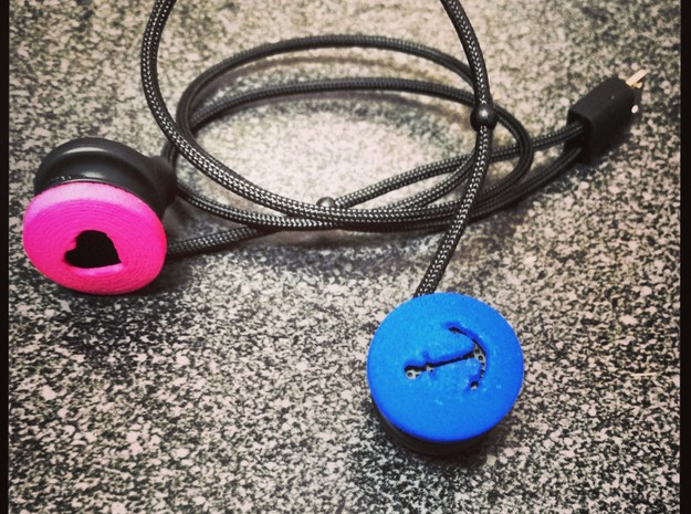 Anchor Ear Bud Cover for GLASS in Blue Processed Versatile Plastic