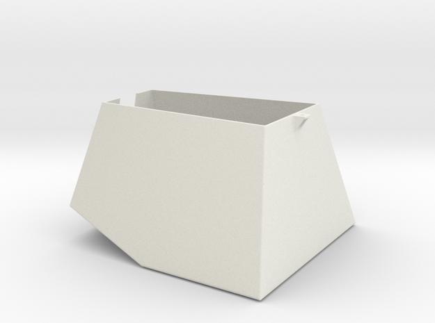 MTU-2 Turret 1:16 scale in White Natural Versatile Plastic