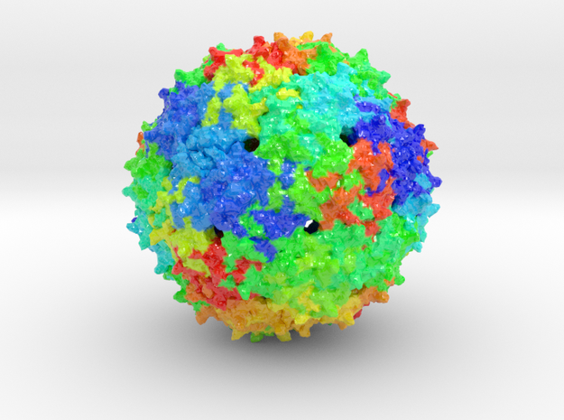 Bacteriophage in Coated Full Color Sandstone