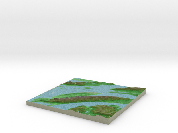 Terrafab generated model Fri Dec 30 2016 23:32:37  in Full Color Sandstone