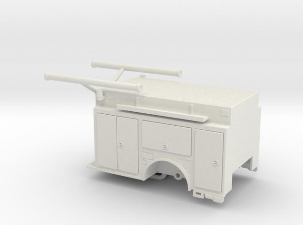 1/64 KME Camden engine body w/ compartment doors in White Natural Versatile Plastic