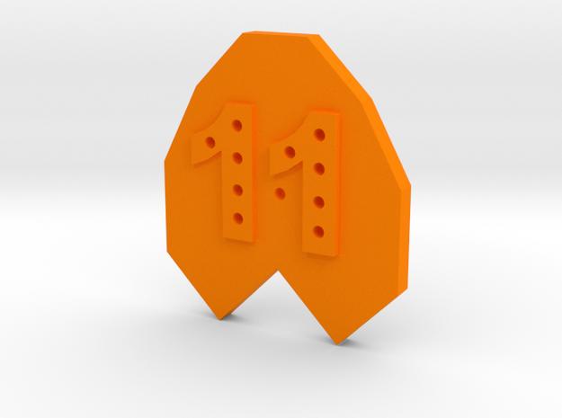 11-hole Number 11 11 Sided Shape in Orange Strong & Flexible Polished