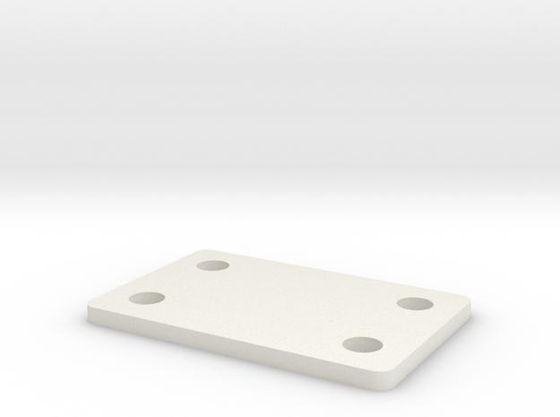 AE B6 1.5mm Front Pivot Shim in White Natural Versatile Plastic