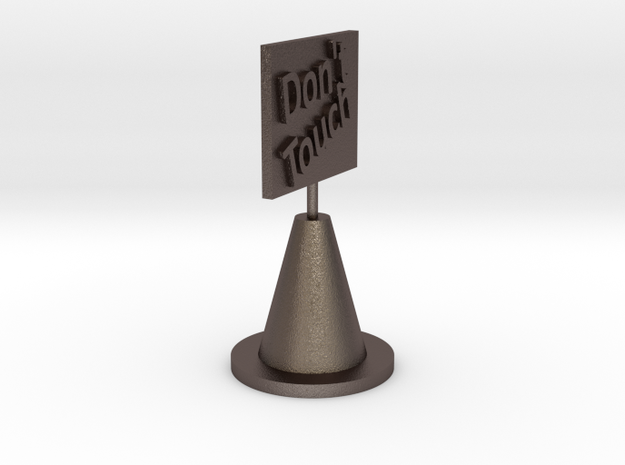 Don't Touch.stl in Polished Bronzed Silver Steel