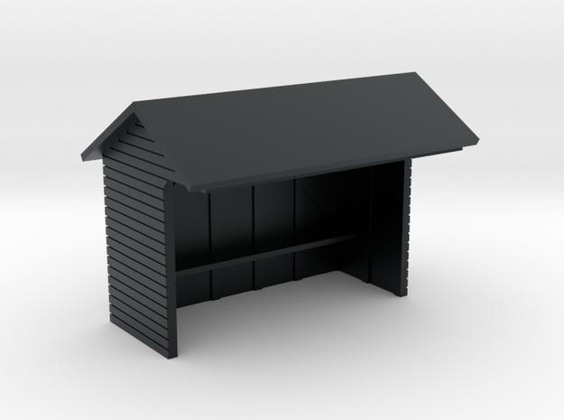 YVT Waiting Shelter in Black Hi-Def Acrylate