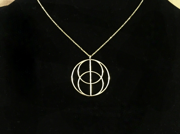 Vesica Piscis in 14K Yellow Gold