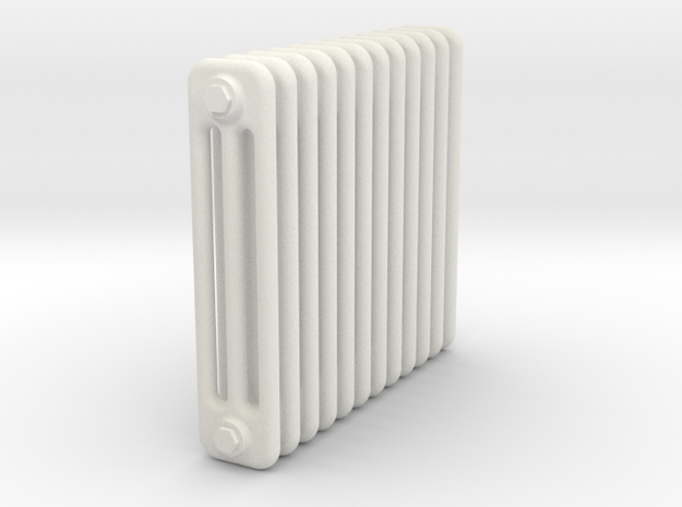 Radiator 12 Rippen ohne Fuss in White Strong & Flexible