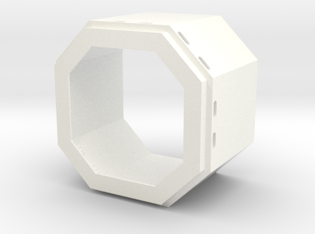 DeAgo Falcon Main Hold Floor Pit 2 cut it to hight in White Strong & Flexible Polished