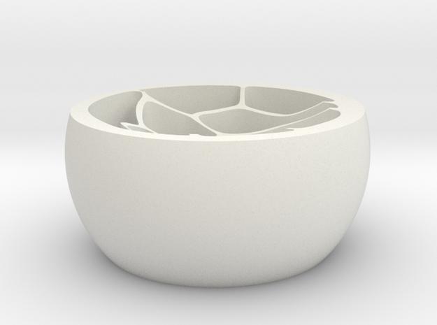 Flower vase.stl in White Strong & Flexible