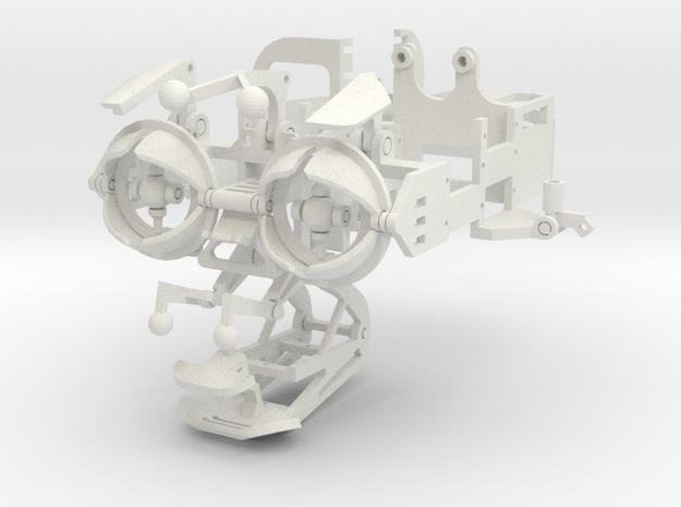 Animatronic head structure in White Natural Versatile Plastic