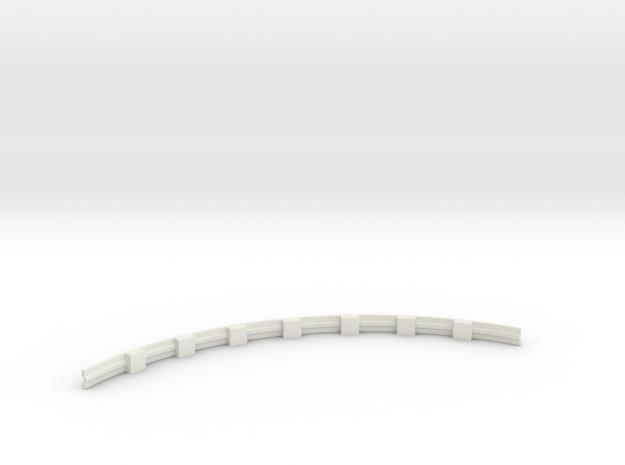Für Anki Overdrive - Leitplanke Kurve Innen V3 in White Strong & Flexible