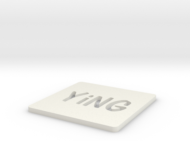 YiNG Coasters in White Strong & Flexible