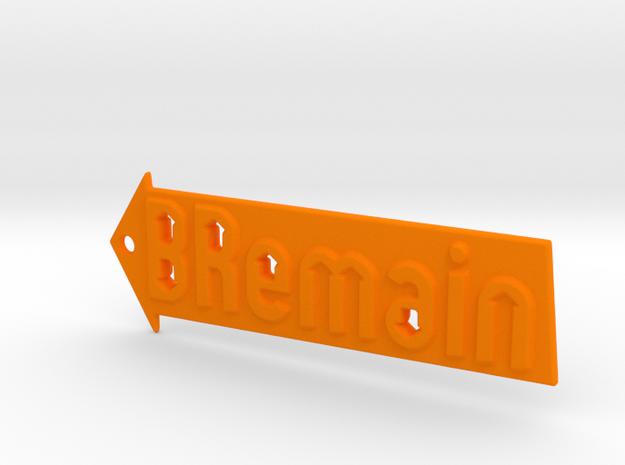 BREMAIN Keychain in Orange Processed Versatile Plastic