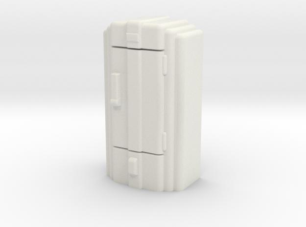 Retro Art Deco Fridge in White Natural Versatile Plastic