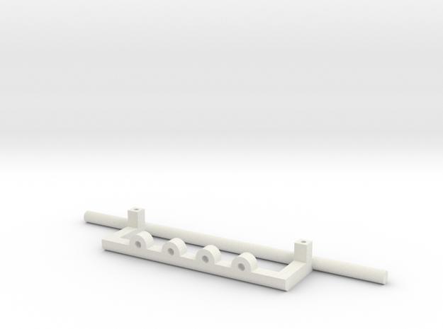 Scania Bull Bar - Type D in White Strong & Flexible