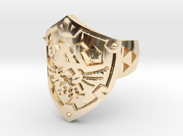 Hylian Shield [Size 10] Precious Metals Edition in 14K Yellow Gold: 10 / 61.5
