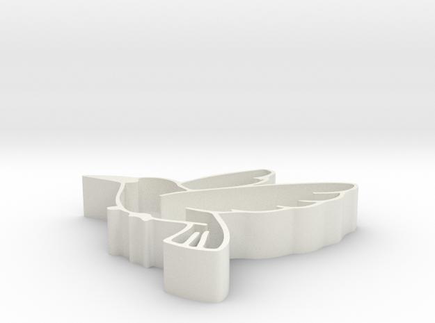 Bird shape fruit tray in White Strong & Flexible