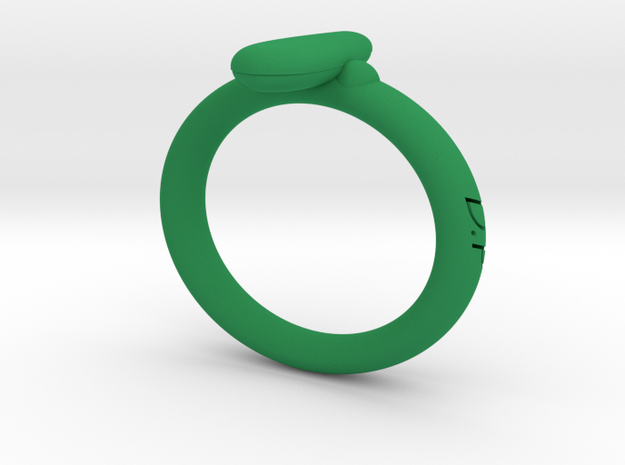 D.P Wristband in Green Processed Versatile Plastic