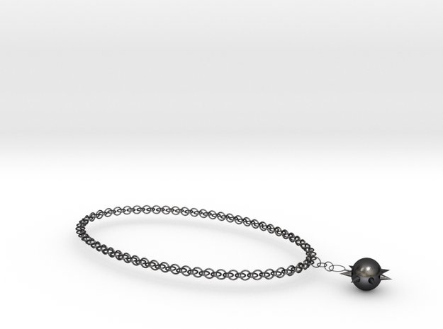 Solar Necklace in Polished and Bronzed Black Steel