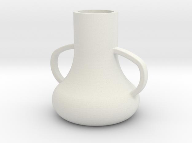 vase.stl in White Strong & Flexible