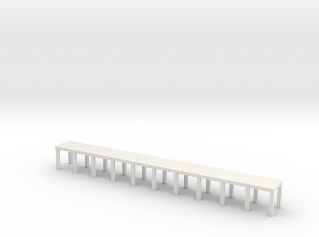 'N Scale' - 5' wide x 50' long Engine Service Plat in White Natural Versatile Plastic