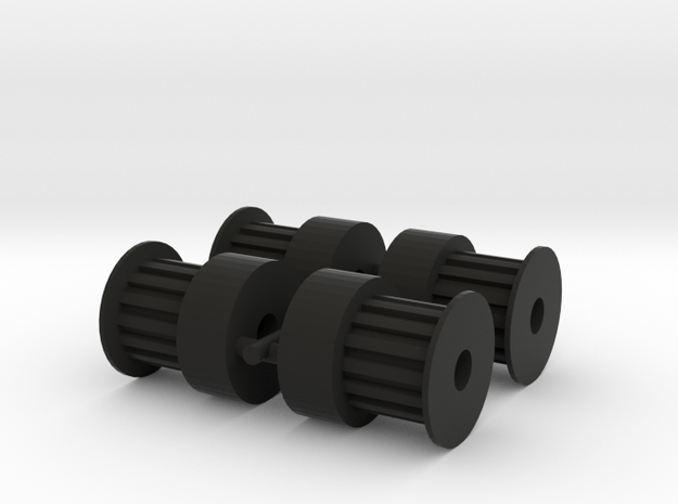 Pulley 15T (4pcs) in Black Strong & Flexible