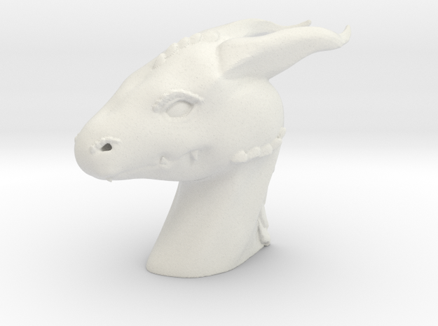 Dragon Head in White Strong & Flexible: Small