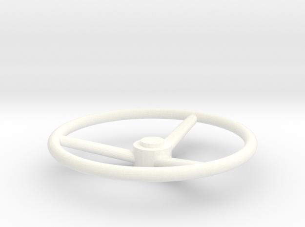 """""""Old Skool"""" Steering wheel Scania 1/32 in White Processed Versatile Plastic"""