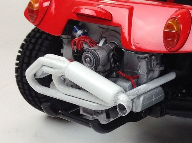 SR10006 SRB Engine - Sidewinder Exhaust in White Processed Versatile Plastic