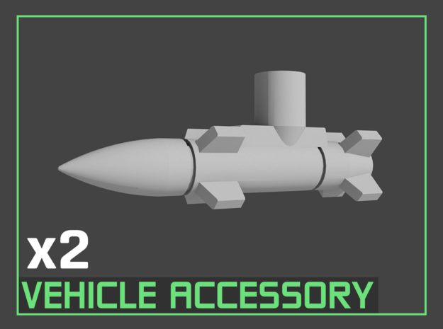Transformers Missiles Vehicle Accessory (5mm post) in White Strong & Flexible