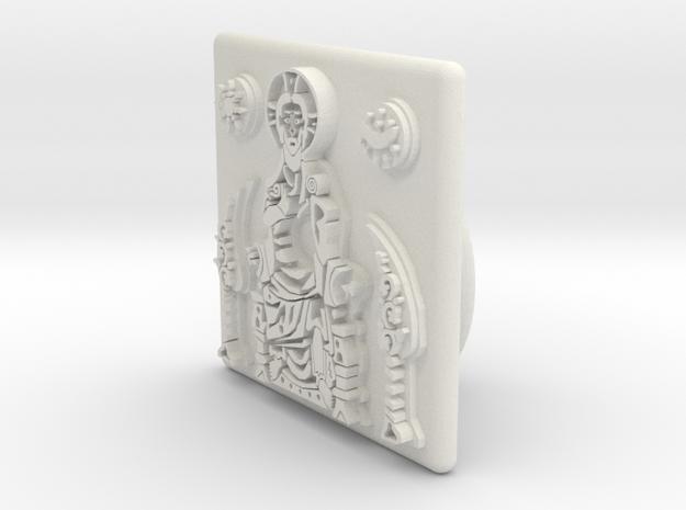 Pantokrator CUFFLINKS in White Natural Versatile Plastic