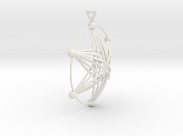氣質風.stl in White Strong & Flexible: d3