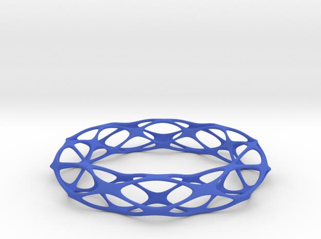 Pseudo Voronoi Brace in Blue Processed Versatile Plastic