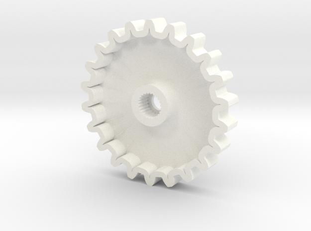 TM02 Servo Gear 24T Hitec V1 in White Processed Versatile Plastic